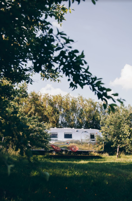 ikonisk airstream fra afstand